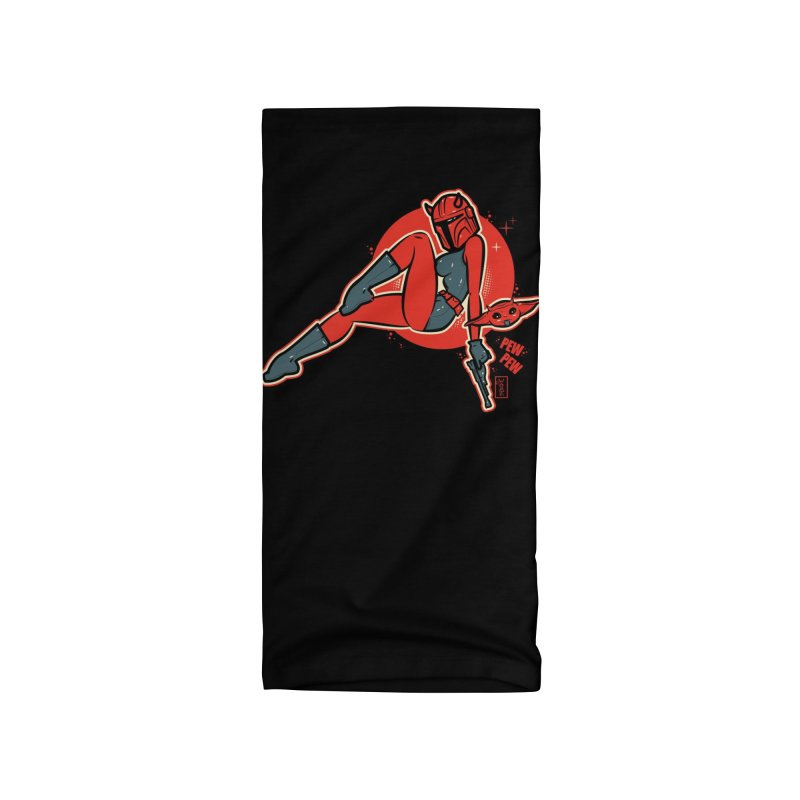 Mando Pinup Devil Girl This is the Way Accessories Neck Gaiter by Dead Pop Hell Shop