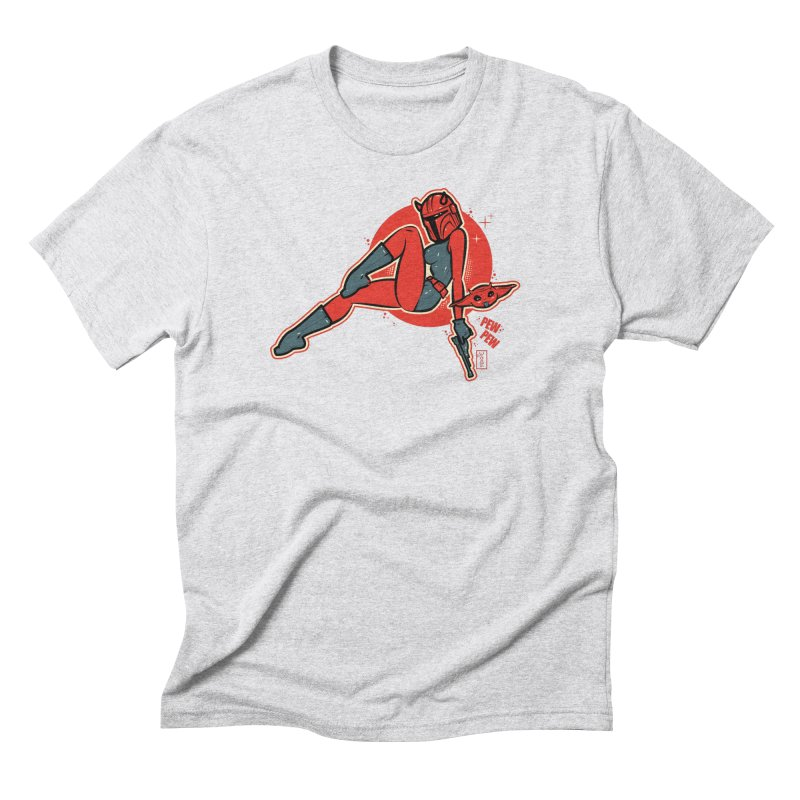 Mando Pinup Devil Girl This is the Way Men's T-Shirt by Dead Pop Hell Shop