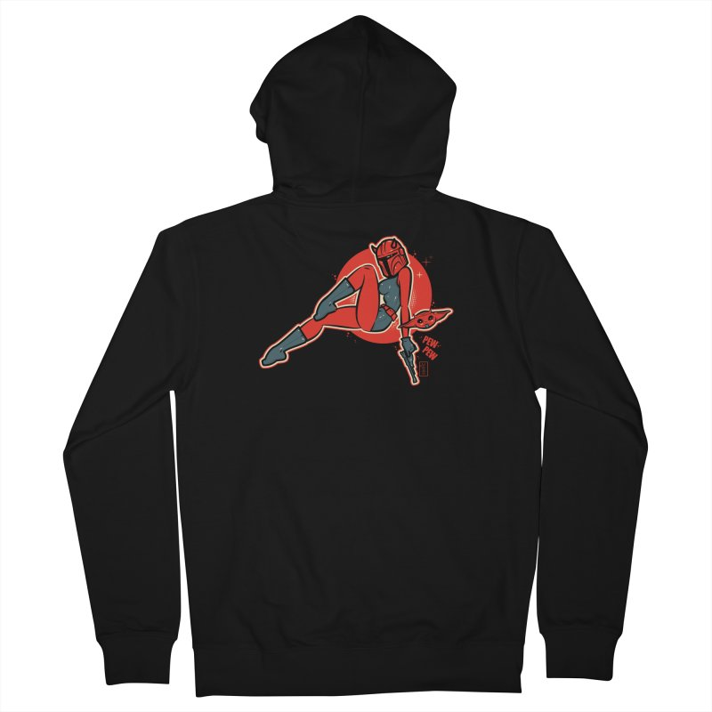 Mando Pinup Devil Girl This is the Way Men's Zip-Up Hoody by Dead Pop Hell Shop