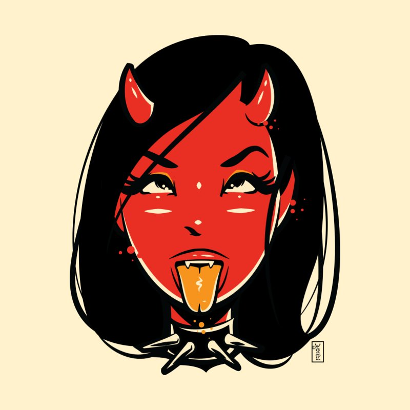 Ahegao Head - Devil Girl Accessories Sticker by Dead Pop Hell Shop