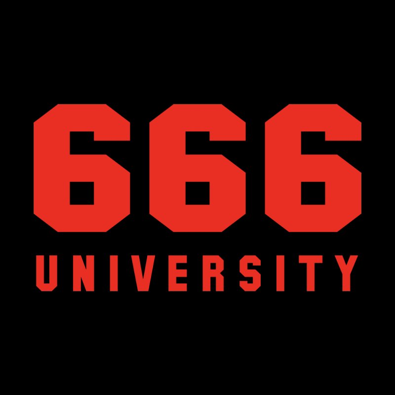 666 University Men's T-Shirt by Dead Pop Hell Shop