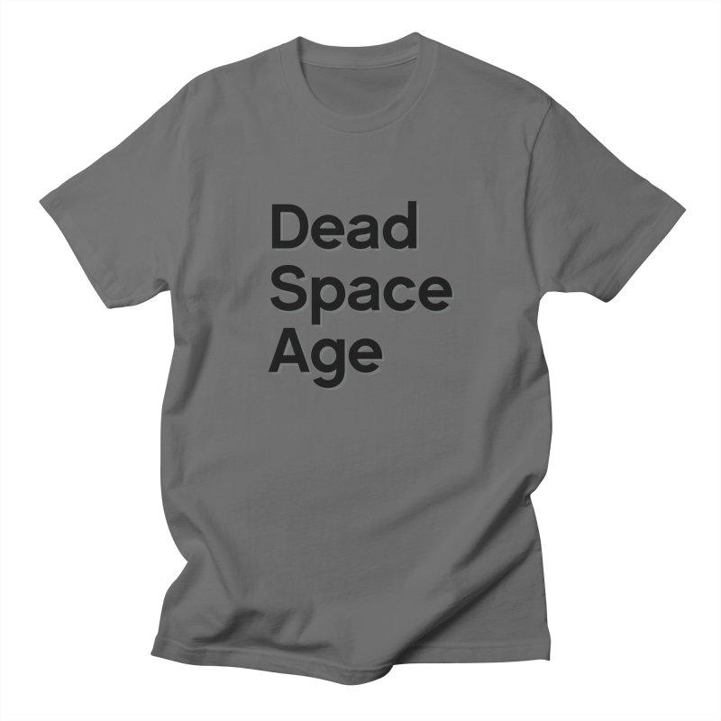 DSA Plain Black Shadow Large Centered Men's T-Shirt by Dead Space Age Merch Store