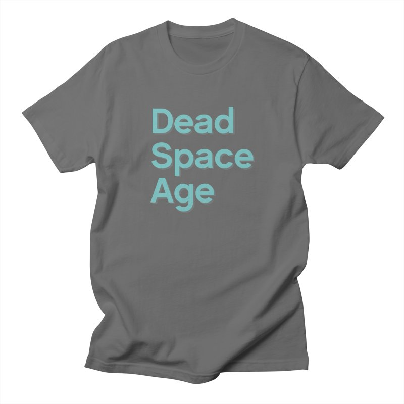 DSA Plain Teal Shadow Large Centered Men's T-Shirt by Dead Space Age Merch Store