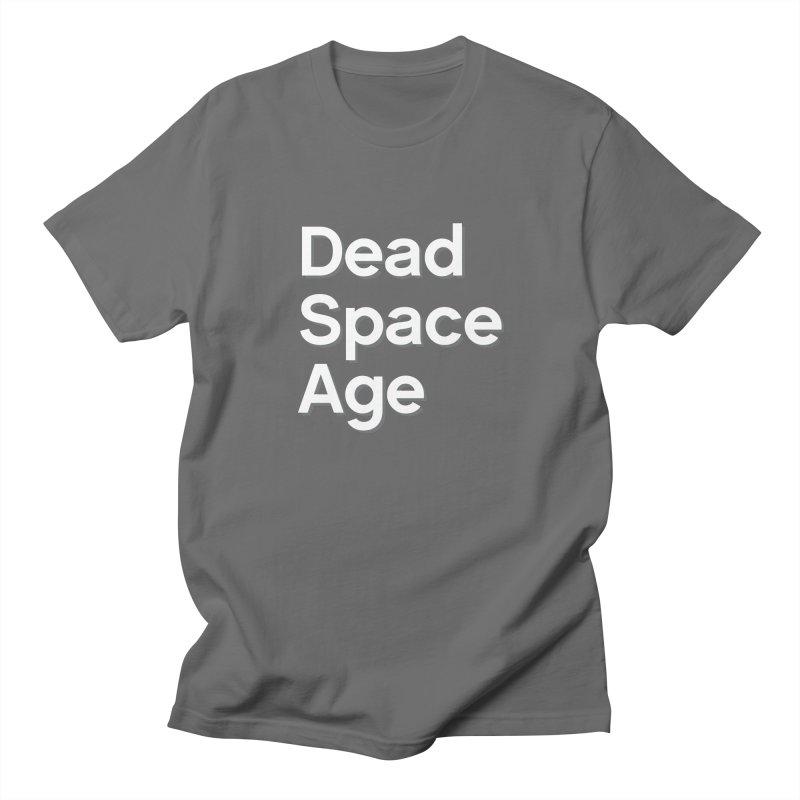 DSA Plain White Shadow Large Centered Men's T-Shirt by Dead Space Age Merch Store