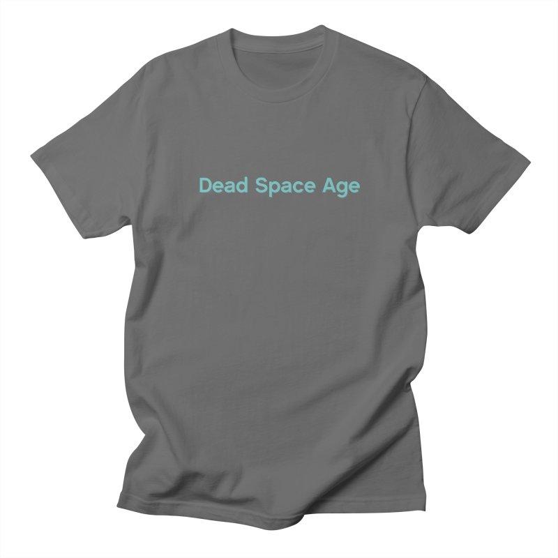 DSA Plain Teal Shadow Horizontal Men's T-Shirt by Dead Space Age Merch Store