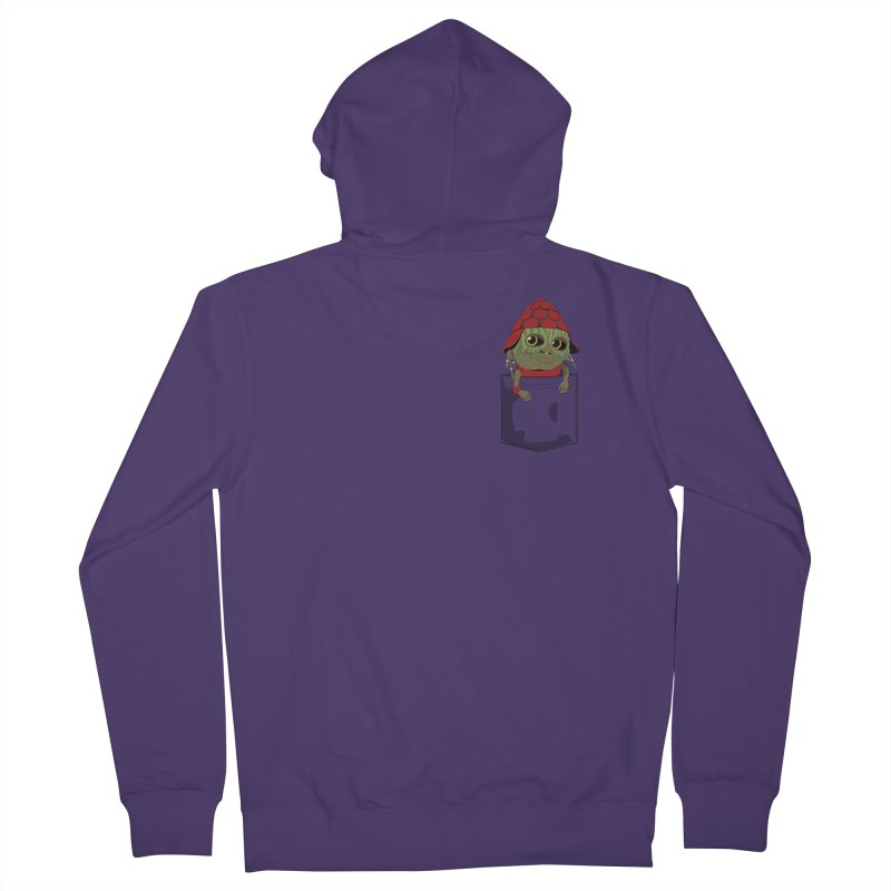 Pockey Pawny - Men In Black International Women's French Terry Zip-Up Hoody by Dean Cole Design