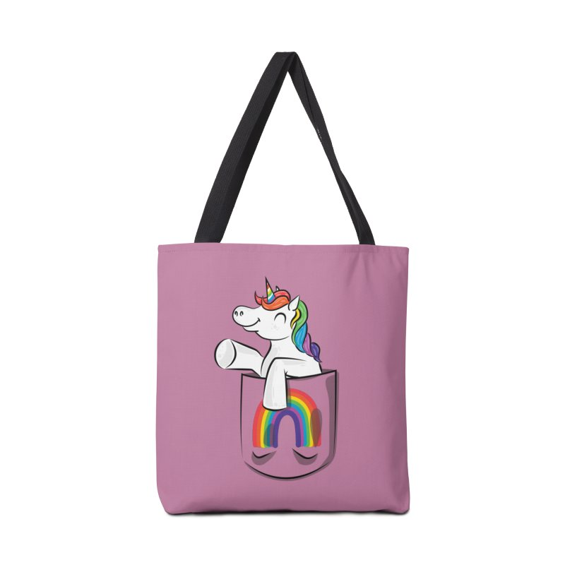 Pocket Unicorn Accessories Tote Bag Bag by Dean Cole Design