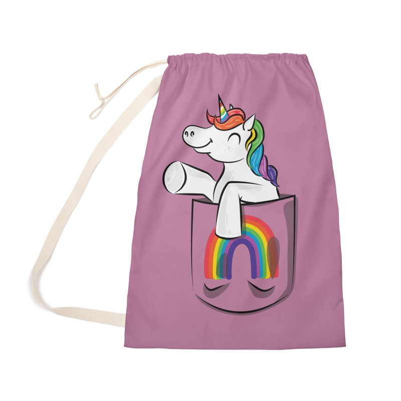 Pocket Unicorn Accessories Laundry Bag Bag by Dean Cole Design