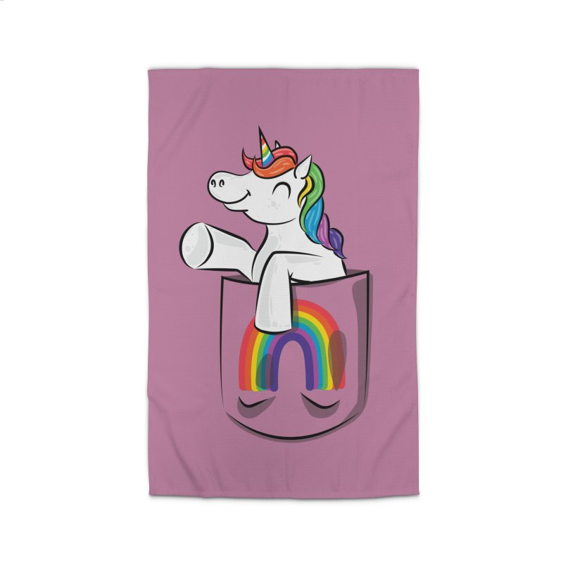 Pocket Unicorn Home Rug by Dean Cole Design