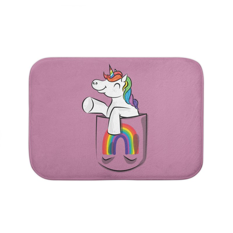 Pocket Unicorn Home Bath Mat by Dean Cole Design