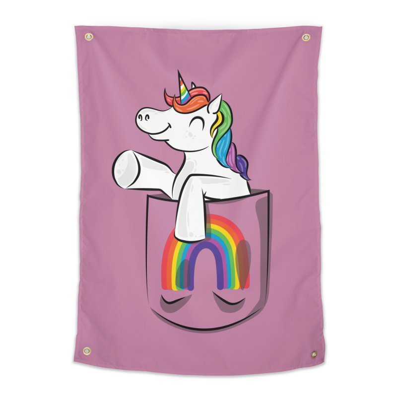 Pocket Unicorn Home Tapestry by Dean Cole Design