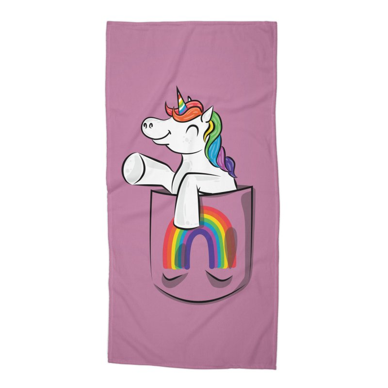 Pocket Unicorn Accessories Beach Towel by Dean Cole Design