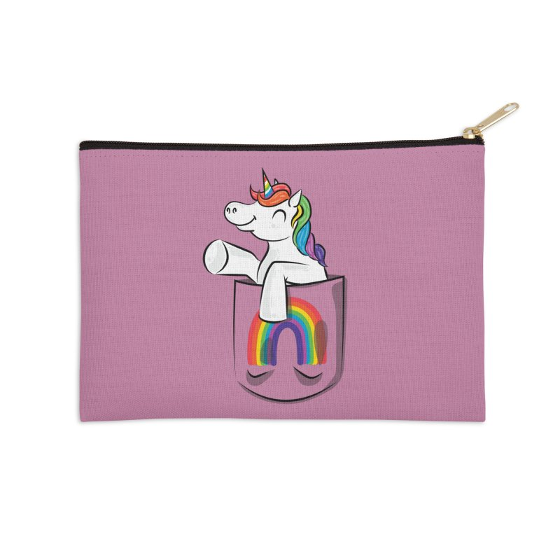 Pocket Unicorn Accessories Zip Pouch by Dean Cole Design