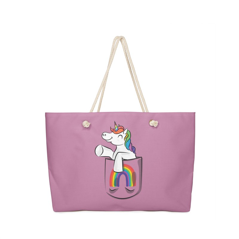 Pocket Unicorn Accessories Weekender Bag Bag by Dean Cole Design