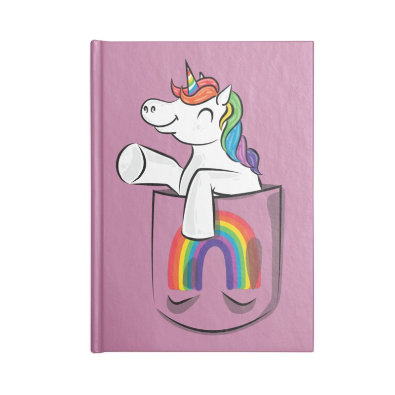 Pocket Unicorn Accessories Blank Journal Notebook by Dean Cole Design