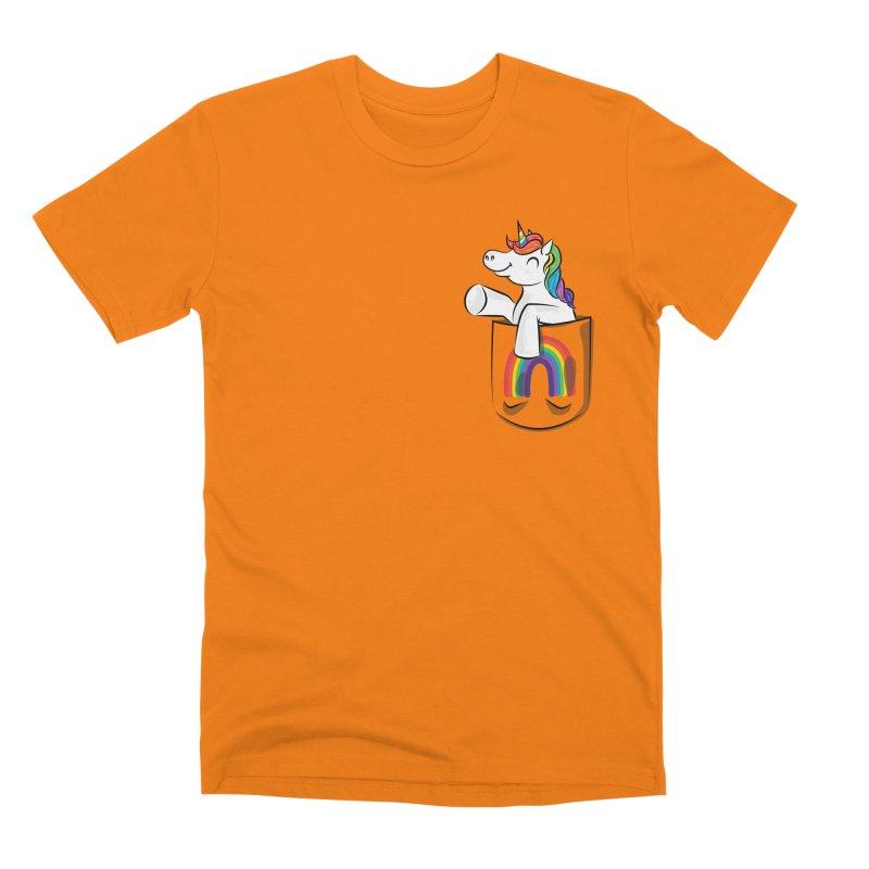 Pocket Unicorn Men's Premium T-Shirt by Dean Cole Design