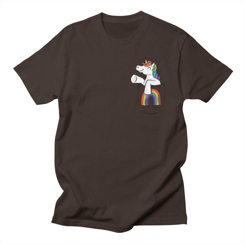 Pocket Unicorn Men's T-Shirt by Dean Cole Design