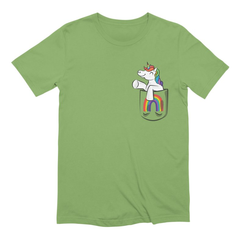 Pocket Unicorn Men's Extra Soft T-Shirt by Dean Cole Design