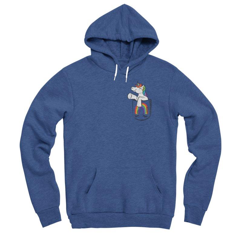 Pocket Unicorn Women's Sponge Fleece Pullover Hoody by Dean Cole Design