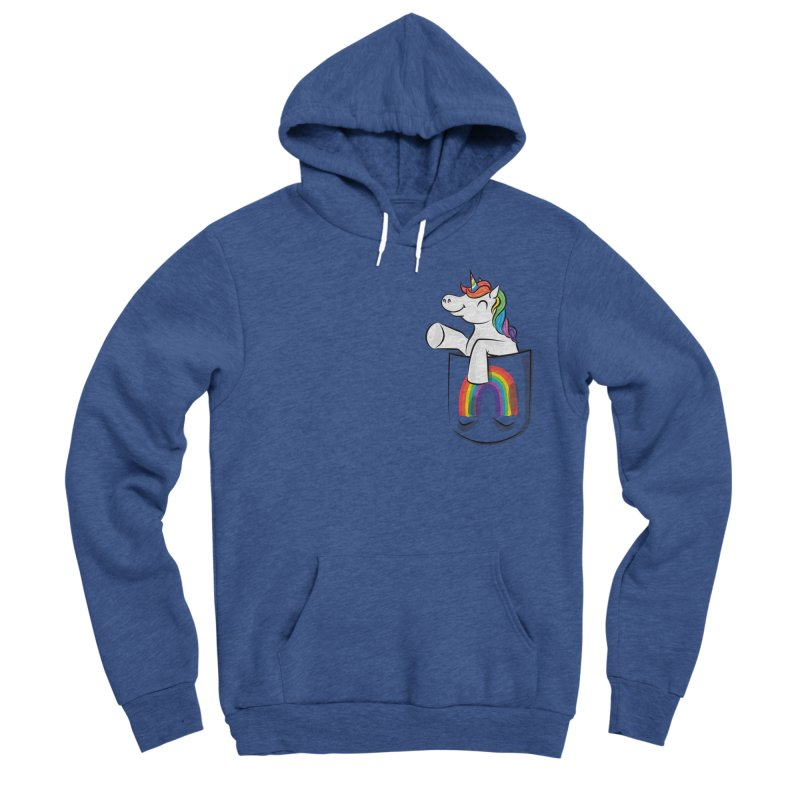 Pocket Unicorn Women's Sponge Fleece Pullover Hoody by Dean Cole Design