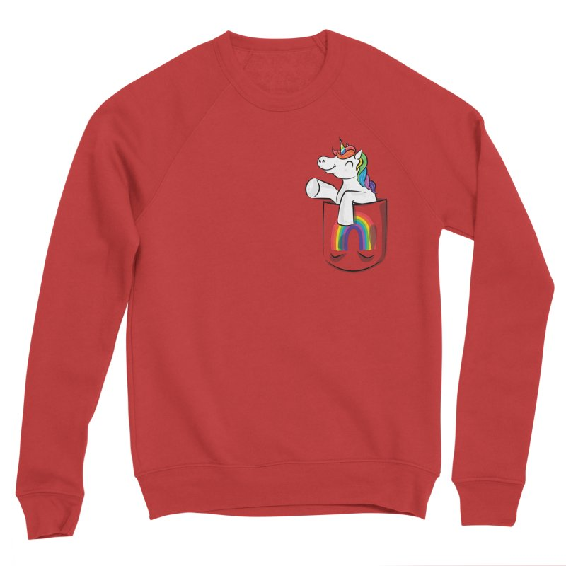 Pocket Unicorn Women's Sponge Fleece Sweatshirt by Dean Cole Design