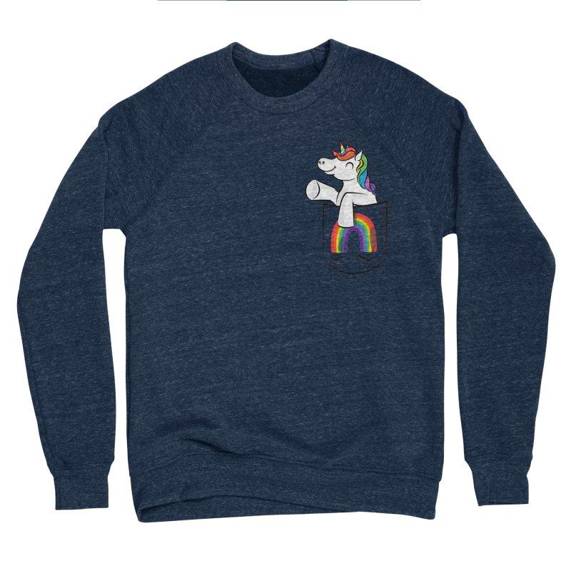 Pocket Unicorn Men's Sponge Fleece Sweatshirt by Dean Cole Design