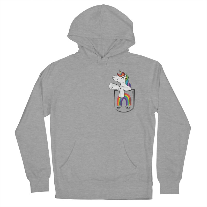 Pocket Unicorn Women's Pullover Hoody by Dean Cole Design