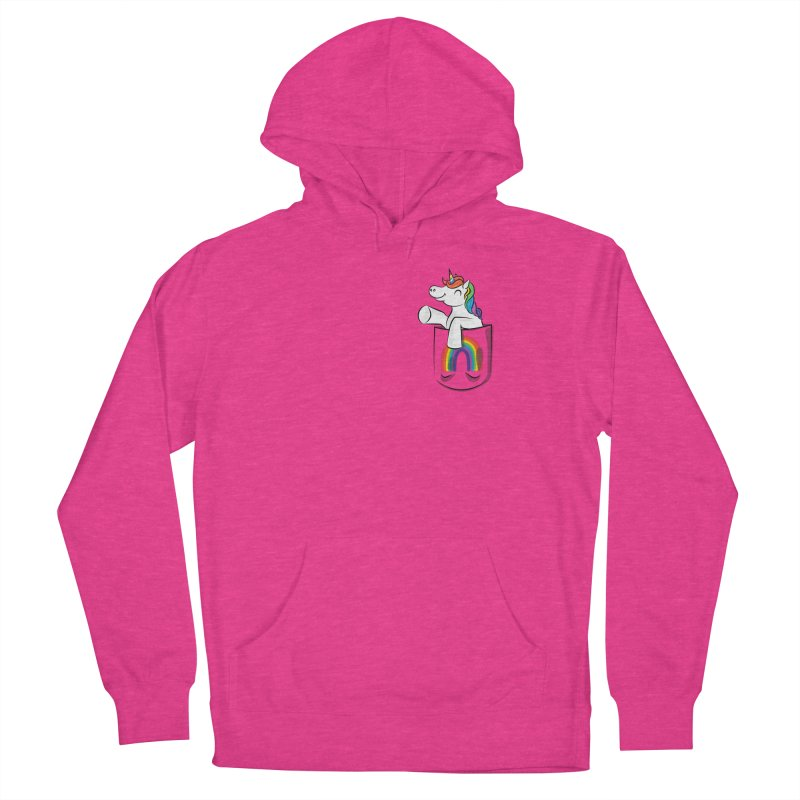 Pocket Unicorn Women's French Terry Pullover Hoody by Dean Cole Design