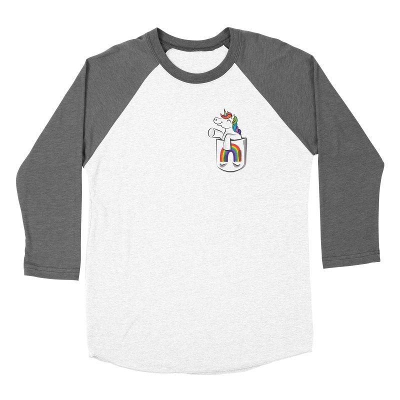 Pocket Unicorn Women's Longsleeve T-Shirt by Dean Cole Design