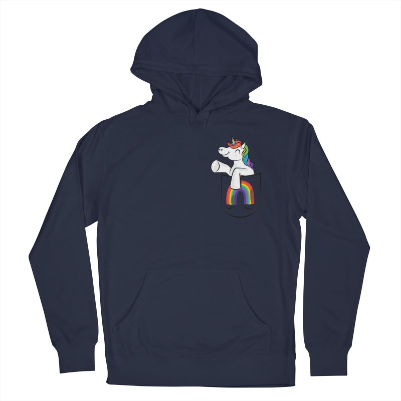 Pocket Unicorn Men's French Terry Pullover Hoody by Dean Cole Design