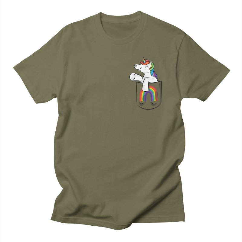 Pocket Unicorn Women's Regular Unisex T-Shirt by Dean Cole Design