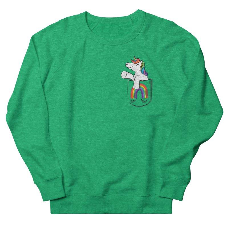 Pocket Unicorn Women's Sweatshirt by Dean Cole Design