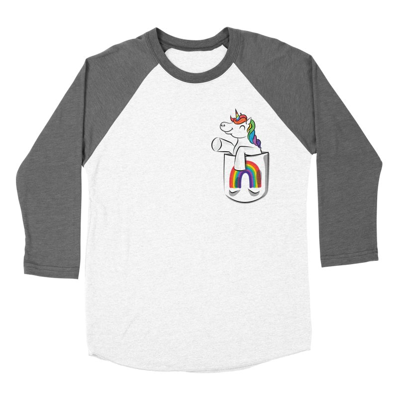 Pocket Unicorn Women's Longsleeve T-Shirt by Dean Cole Design