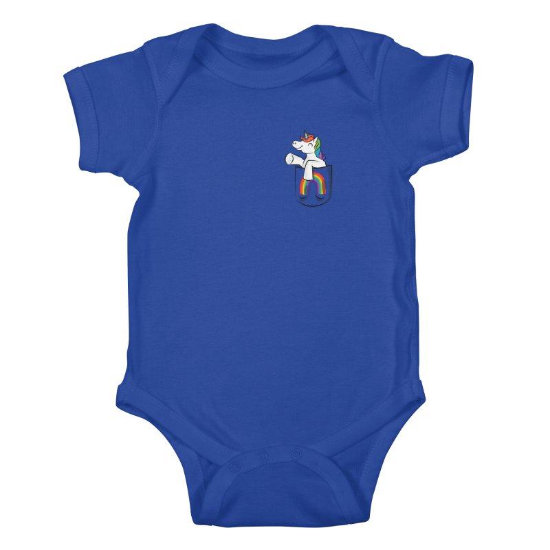 Pocket Unicorn Kids Baby Bodysuit by Dean Cole Design