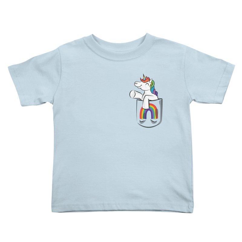 Pocket Unicorn Kids Toddler T-Shirt by Dean Cole Design