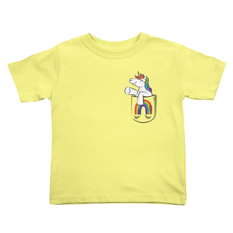 Pocket Unicorn Kids Toddler T-Shirt by Dean Cole Design
