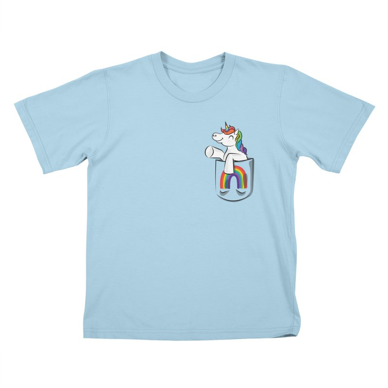 Pocket Unicorn Kids T-Shirt by Dean Cole Design