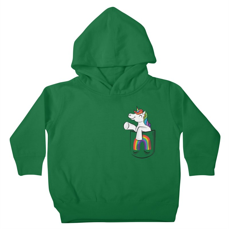 Pocket Unicorn Kids Toddler Pullover Hoody by Dean Cole Design