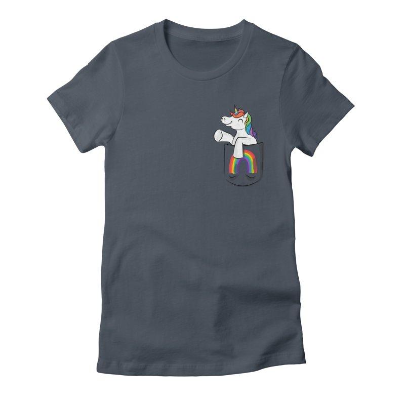 Pocket Unicorn Women's T-Shirt by Dean Cole Design