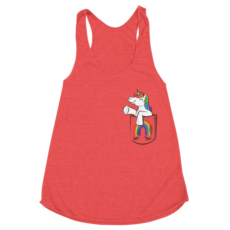 Pocket Unicorn Women's Tank by Dean Cole Design