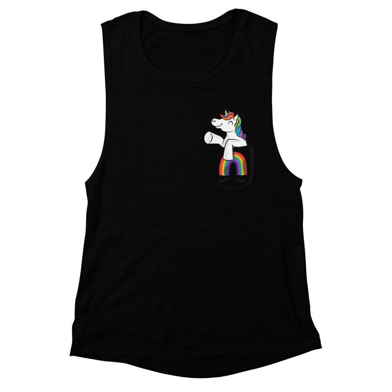 Pocket Unicorn Women's Muscle Tank by Dean Cole Design