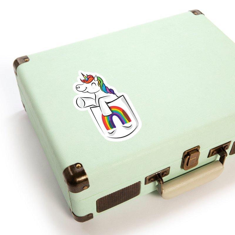 Pocket Unicorn Accessories Sticker by Dean Cole Design