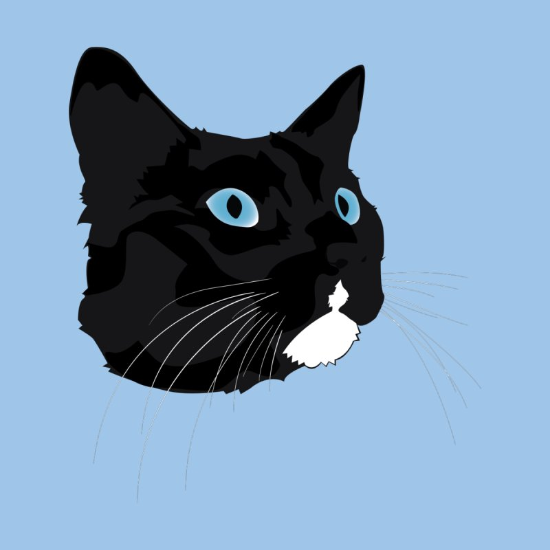 Black Cat Men's Longsleeve T-Shirt by Dean Cole Design