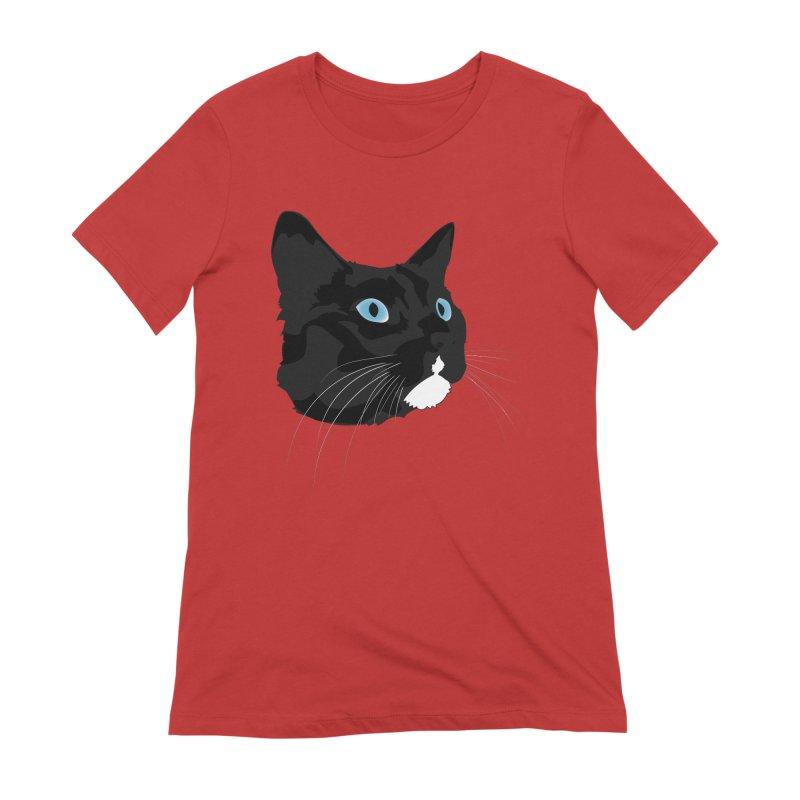 Black Cat Women's Extra Soft T-Shirt by Dean Cole Design