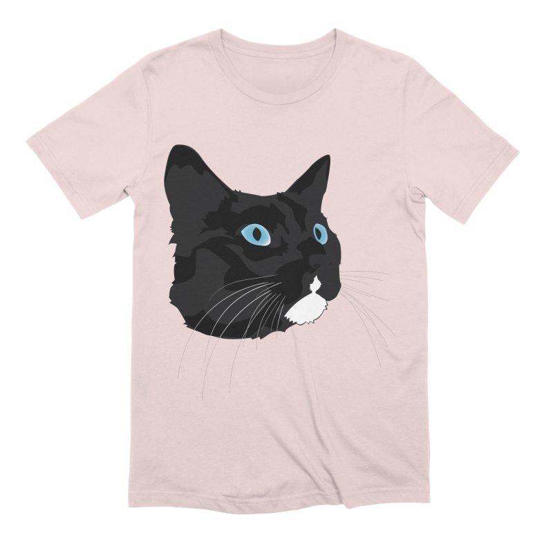 Black Cat Men's Extra Soft T-Shirt by Dean Cole Design