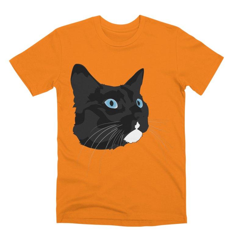 Black Cat Men's T-Shirt by Dean Cole Design