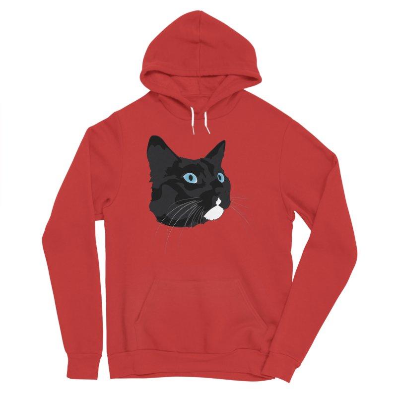Black Cat Women's Sponge Fleece Pullover Hoody by Dean Cole Design