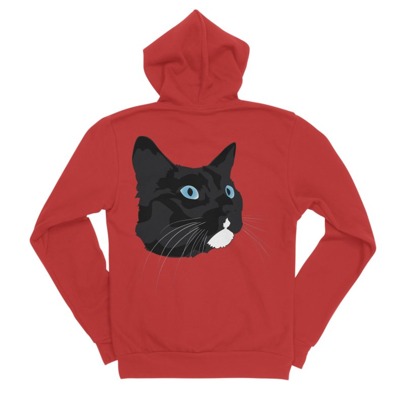 Black Cat Women's Zip-Up Hoody by Dean Cole Design