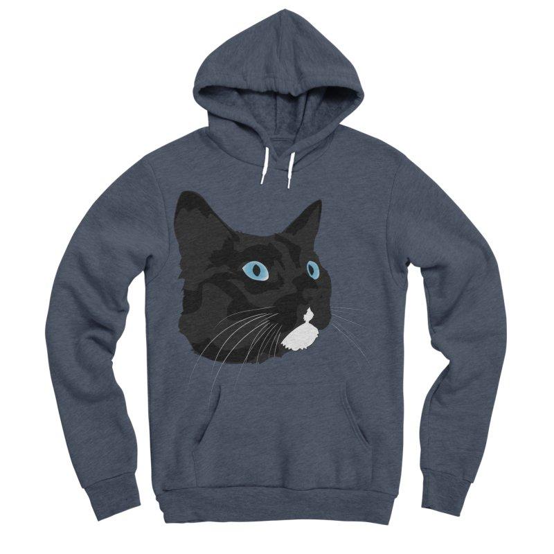 Black Cat Men's Sponge Fleece Pullover Hoody by Dean Cole Design