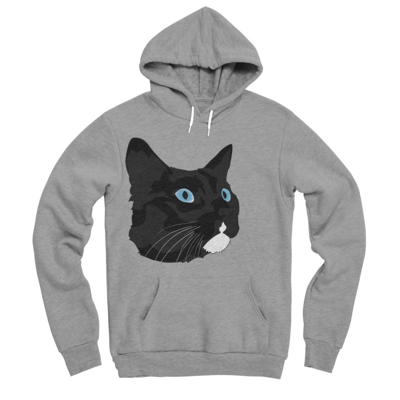 Black Cat Women's Sponge Fleece Pullover Hoody by Dean Cole Design